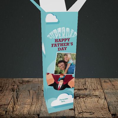 Picture of Superdad, Father's Day Design, Upright Bottle Box
