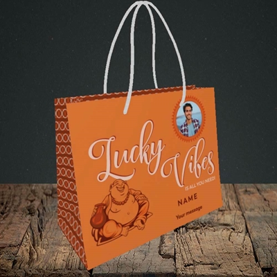 Picture of Lucky Vibes, Good Luck Design, Small Landscape Gift Bag