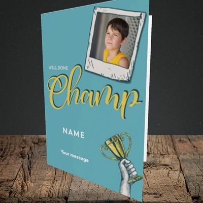 Picture of Champ, Celebration Design, Portrait Greetings Card