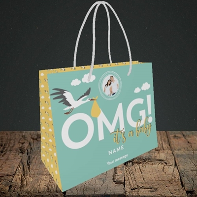 Picture of OMG! It's a Baby, New Baby Design, Small Landscape Gift Bag