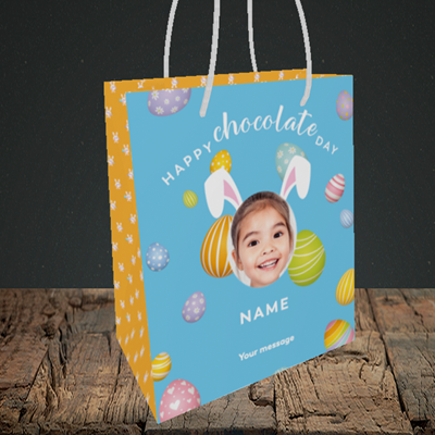 Picture of Chocolate Day, Easter Design, Small Portrait Gift Bag