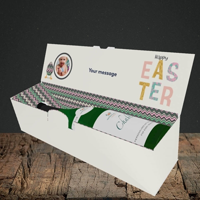 Picture of Happy Walking Egg, Easter Design, Lay-down Bottle Box