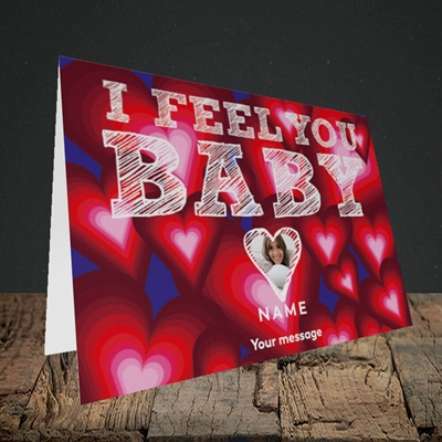 Picture of I Feel You Baby, Valentine's Design, Landscape Greetings Card