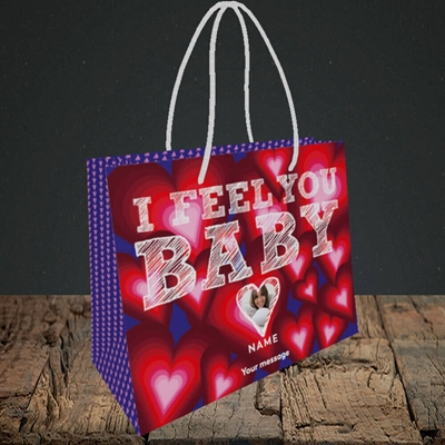 Picture of I Feel You Baby, Valentine's Design, Small Landscape Gift Bag