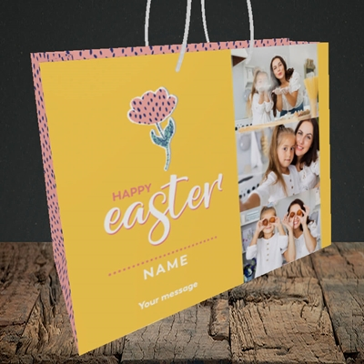 Picture of Easter Flower, Easter Design, Medium Landscape Gift Bag