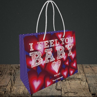 Picture of I Feel You Baby(Without Photo), Valentine's Design, Small Landscape Gift Bag