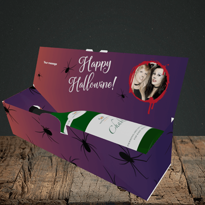 Picture of Spider, Halloween Design, Lay-down Bottle Box