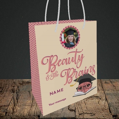Picture of Beauty & The Brain, Graduation Design, Small Portrait Gift Bag