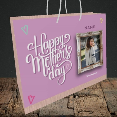 Picture of Happy Mother's Day, Mother's Day Design, Medium Landscape Gift Bag