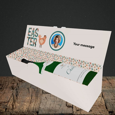 Picture of Floral Hen, Easter Design, Lay-down Bottle Box
