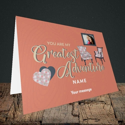 Picture of Greatest Adventure, Valentine's Design, Landscape Greetings Card