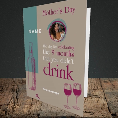 Picture of Didn't Drink, Mother's Day Design, Portrait Greetings Card