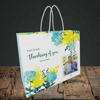 Picture of Watercolour, Thinking of You Design, Small Landscape Gift Bag