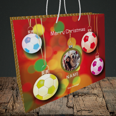 Picture of Christmas Baubles, Christmas Design, Medium Landscape Gift Bag