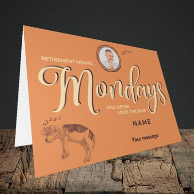 Picture of Mondays, Retirement Design, Landscape Greetings Card