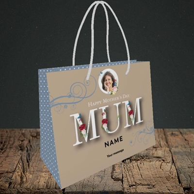 Picture of Mother's Day Flowers, Mother's Day Design, Small Landscape Gift Bag