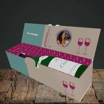 Picture of Didn't Drink, Mother's Day Design, Lay-down Bottle Box