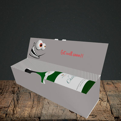 Picture of Mad, Get Well Soon Design, Lay-down Bottle Box