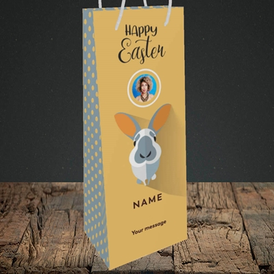 Picture of Pick Me Up Bunny, Easter Design, Bottle Bag