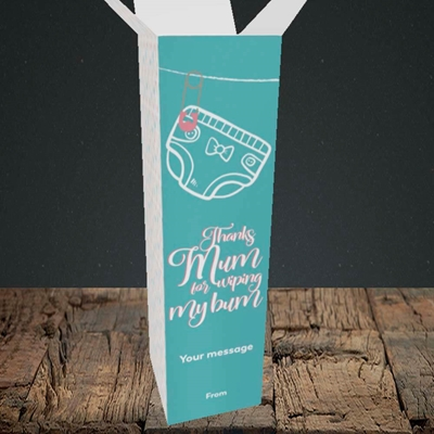 Picture of Wiping My Bum(Without Photo), Mother's Day Design, Upright Bottle Box